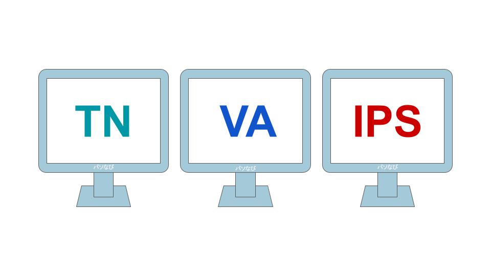 TN・VA・IPSという3種類のモニター