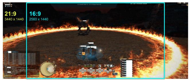 FF14のウルトラワイドモニター画像